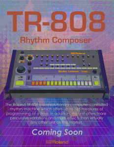 My Idea of an ad for the TR-808 Rhythm Composer by Roland